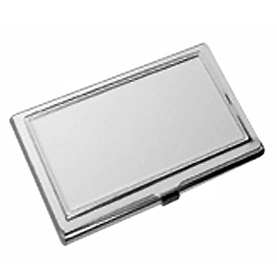 Silver Coloured Business Card Holder