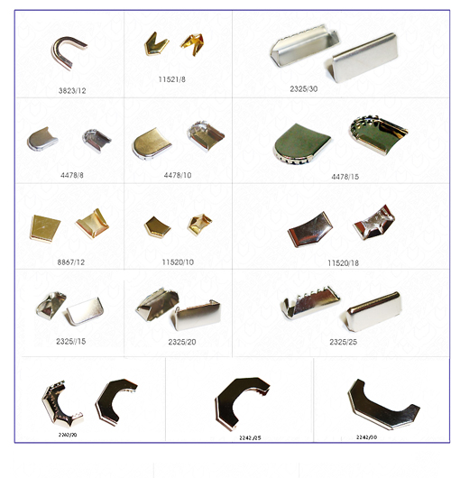 Devanet metal end tips for webbing
