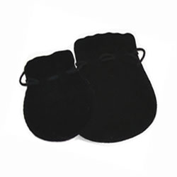Black Velvet Belt Pouchette