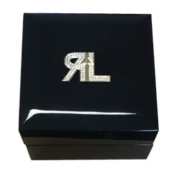 Wooden Box With Swarovski Logo