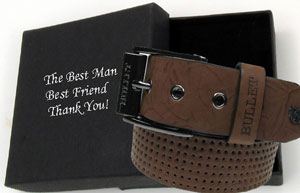 boxed blelts gift groom