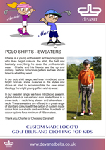 Devanet polo shirts and sweaters into page